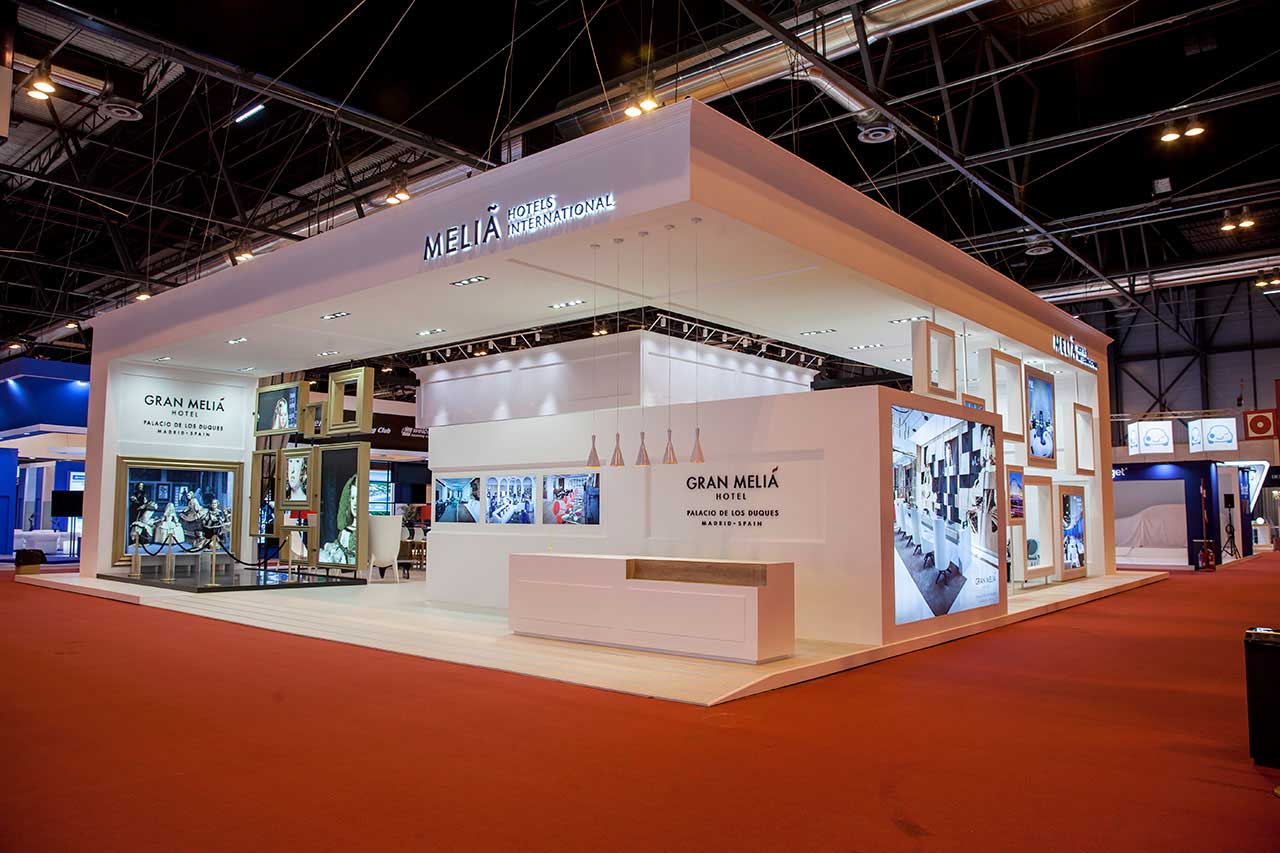 Design and construction of the Meliá stand in Fitur 2017.