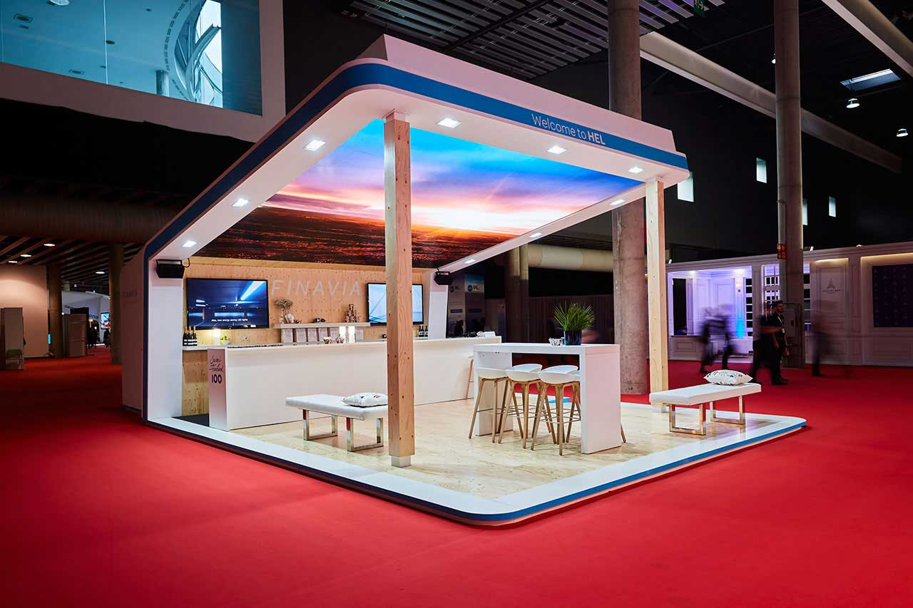 Preparation of technical drawings andconstruction of the FINAVIA stand.