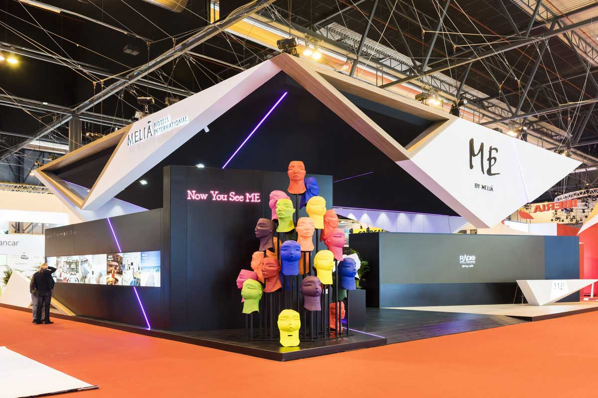 Innovative design and construction of the Meliá stand.