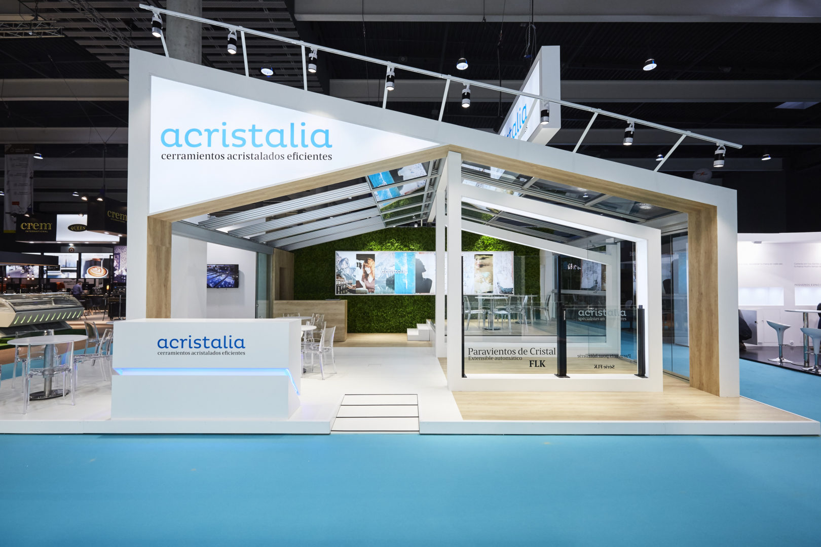 Conception et construction du stand Acristalia pour Hostelco 2018.