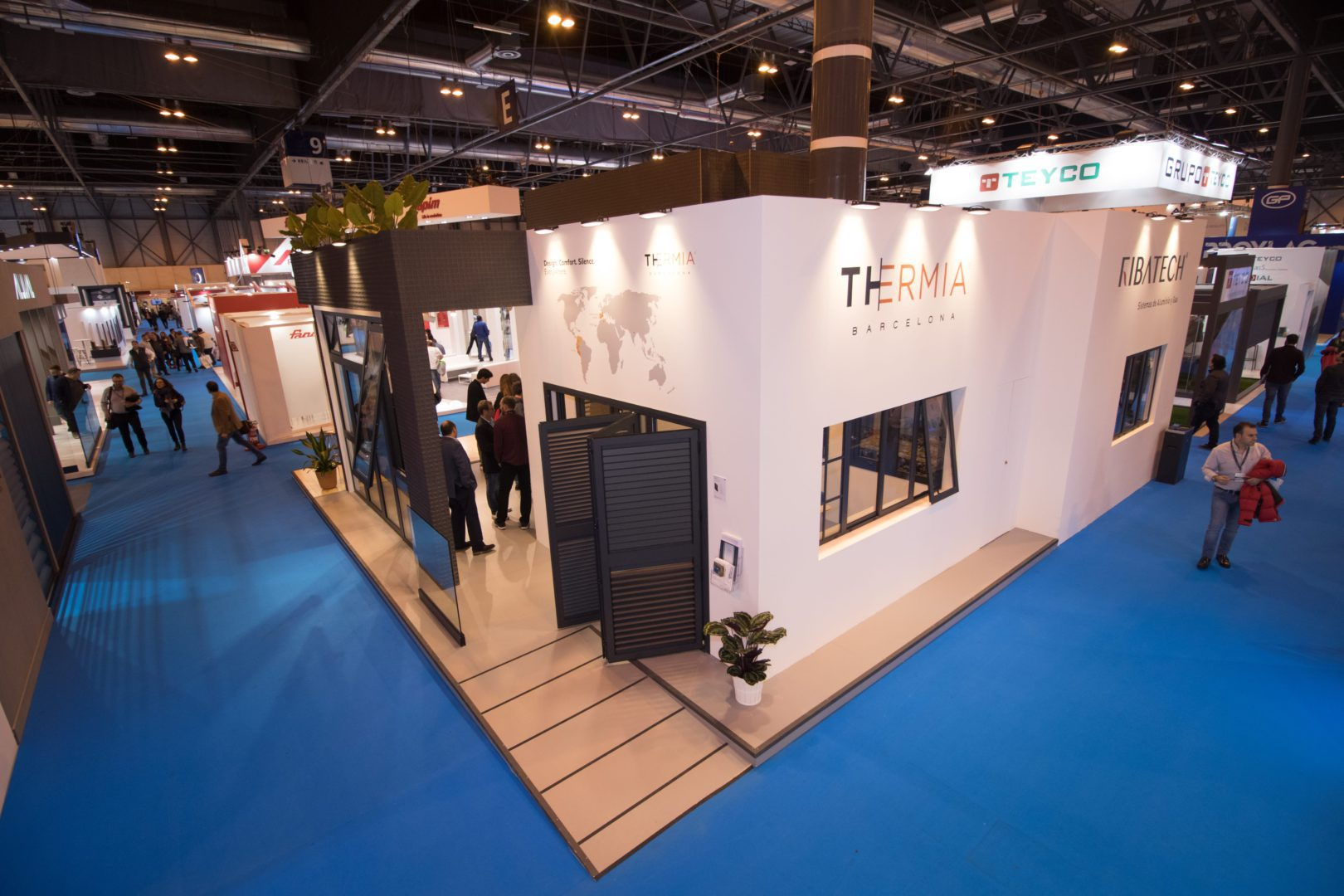 Design and construction of the THERMIA stand for VETECO 2018.